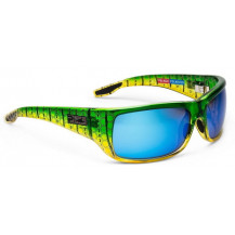 Pelagic Fish Hook Polarized Mineral Sunglasses - Silver Helix, Blue Mirror
