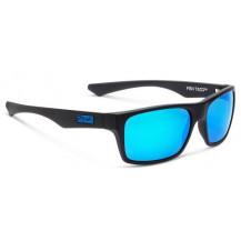 Pelagic Fish Taco Polarized Polycarbonate Lens Sunglasses - Blue Mirror, Matte Black