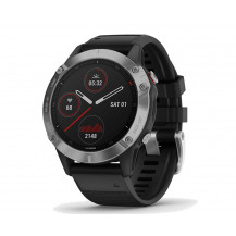 Garmin Fenix 6 Multisport GPS Watch - Silver/Black - Front View