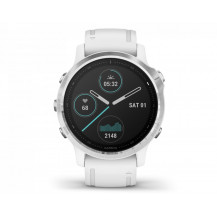 Garmin Fenix 6S Multisport GPS Watch - Silver/White - Front View