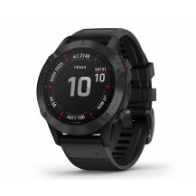 Garmin Fenix 6S Pro Multisport GPS Watch - Black/Black - Front View