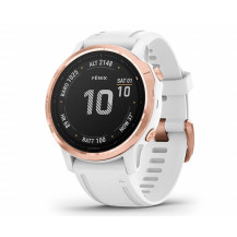 Garmin Fenix 6S Pro Multisport GPS Watch - Rose Gold/White - Front View