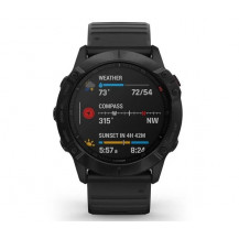 Garmin Fenix 6X Pro Multisport GPS Watch - Black/Black - Front View