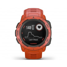 Garmin Instinct GPS Watch - Flame Red - Front View