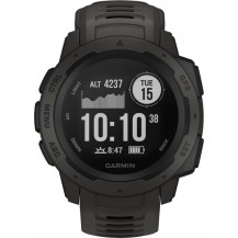 Garmin Instinct GPS Watch - Graphite - Front View