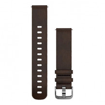 Garmin Quick Release Leather Band - Dark Brown, Large