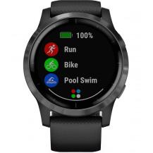 Garmin Vivoactive 4 GPS Smartwatch - Black/Slate - Front View