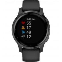 Garmin Vivoactive 4S GPS Smartwatch - Black/Slate - Front View
