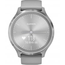 Garmin Vivomove 3 Hybrid Smartwatch - Powder Gray/Silver - Front View