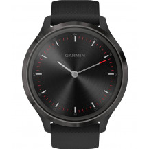 Garmin Vivomove 3 Hybrid Smartwatch - Slate/Black - Front View