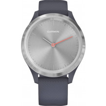 Garmin Vivomove 3S Hybrid Smartwatch - Granite Blue/Silver  - Front View