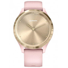 Garmin Vivomove 3S Hybrid Smartwatch - Dust Rose/Light Gold - Front View