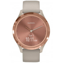 Garmin Vivomove 3S Hybrid Smartwatch - Light Sand/Rose Gold - Front View