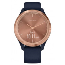 Garmin Vivomove 3S Hybrid Smartwatch - Navy/Rose Gold - Front View
