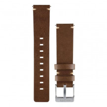 Garmin Vivomove Quick Release Leather Band - Dark Brown