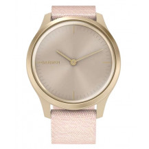 Garmin Vivomove Style Hybrid Smartwatch - Blush Pink/Light Gold - Front View