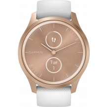 Garmin Vivomove Style Hybrid Smartwatch - White/Rose Gold - Front View