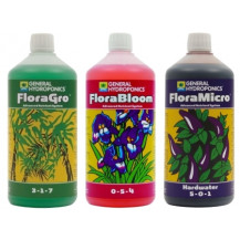 General Hydroponics Flora Series Nutrient Kit (3x 1L) - Hard Water