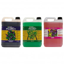 General Hydroponics Flora Series Nutrient Kit (3x 5L) - Hard Water