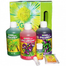 General Hydroponics Flora Series Nutrient Tripack - 500ml, Soft Water