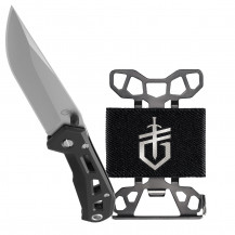 Gerber Airlift Folding Knife and Barbill Money Clip Combo - Black