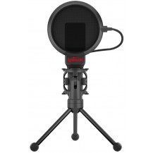 Redragon Seyfert 3.5mm Aux Gaming Mic with Tripod - Black