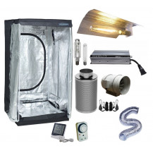 Grow Tent Combo - 100 x 100 cm, 600W Electronic, Budget Wing Reflector