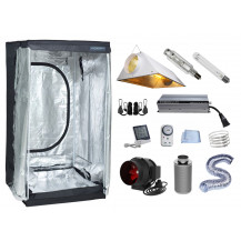 Grow Tent Combo - 120 x 120 cm, 600W Powerlux Ballast, Air-cooled Reflector