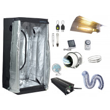 Grow Tent Combo - 80 x 80 cm, 600W Electronic Ballast, Wing Reflector
