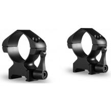 Hawke 30mm Precision Steel High Scope Ring Mounts - 2 Piece, Weaver