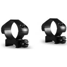 Hawke 30mm Precision Steel Medium Scope Ring Mounts - 2 Piece, Weaver