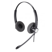 Calltel HW333N Stereo-Ear Noise-Cancelling Headset - Quick Disconnect Connector