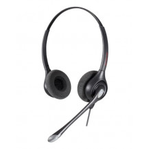 Calltel HW361N Stereo-Ear Noise-Cancelling Headset - Quick Disconnect Connector