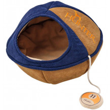 Hunter Pets Luxury Dublin Cat Cave - Large, Blue/Brown