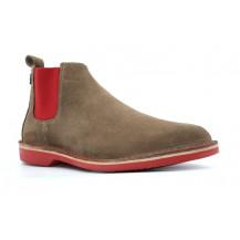 Veldskoen Chelsea Pinotage Boot - Red Sole, UK Size 3