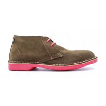 Veldskoen Heritage Uhambo 2.0 Shoe - Hot Pink Sole, UK Size 3