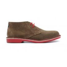 Veldskoen Heritage Pinotage Shoe - Red Sole, UK Size 3