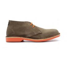 Veldskoen Heritage Bloem Shoe - Orange Sole, UK Size 3