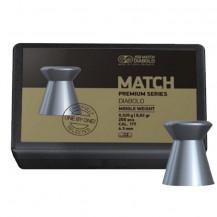 JSB Match Premium Series Middle Weight Diabolo Airgun Pellets - Cal .177 / 4.51mm, 200 Pieces