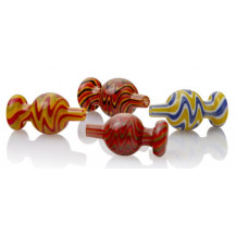 Just Cannabis Coloured Quartz Ball Carb Cap - Only one carb cap included