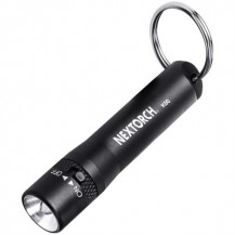 Nextorch K00 Mini LED Flashlight - 18 Lumens, Black - Battery NOT Included