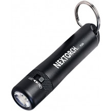Nextorch K20 Mini LED Flashlight - 130 Lumens, Black - Battery not included