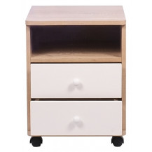 Kaio Turin 2 Drawer & Shelf Bedside Table