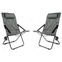 Kaufmann Luxury Recliner Chair - Grey, 2 Set
