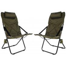 Kaufmann Luxury Recliner Chair - Khaki, 2 Set