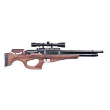 Kral Arms Puncher Monarch PCP Air Rifle - 5.5mm, Walnut - Scope NOT included.