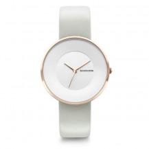 Lambretta Cielo 34 Leather Women's Watch - Rose Gold White/Ivory
