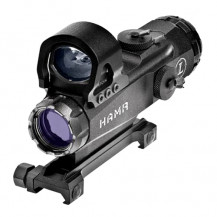 Leupold Mark 4 HAMR 4x24mm Rifle Scope with DeltaPoint - Ill. CM-R2 & 3.5 MOA Dot Reticle, Matte Black