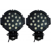 Lumeno Slim Line Spot Lights Set of 2 - 3570 Lumen / 200m, Black