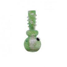 MA-1001 Glass Bong - 25cm, Multi-Coloured